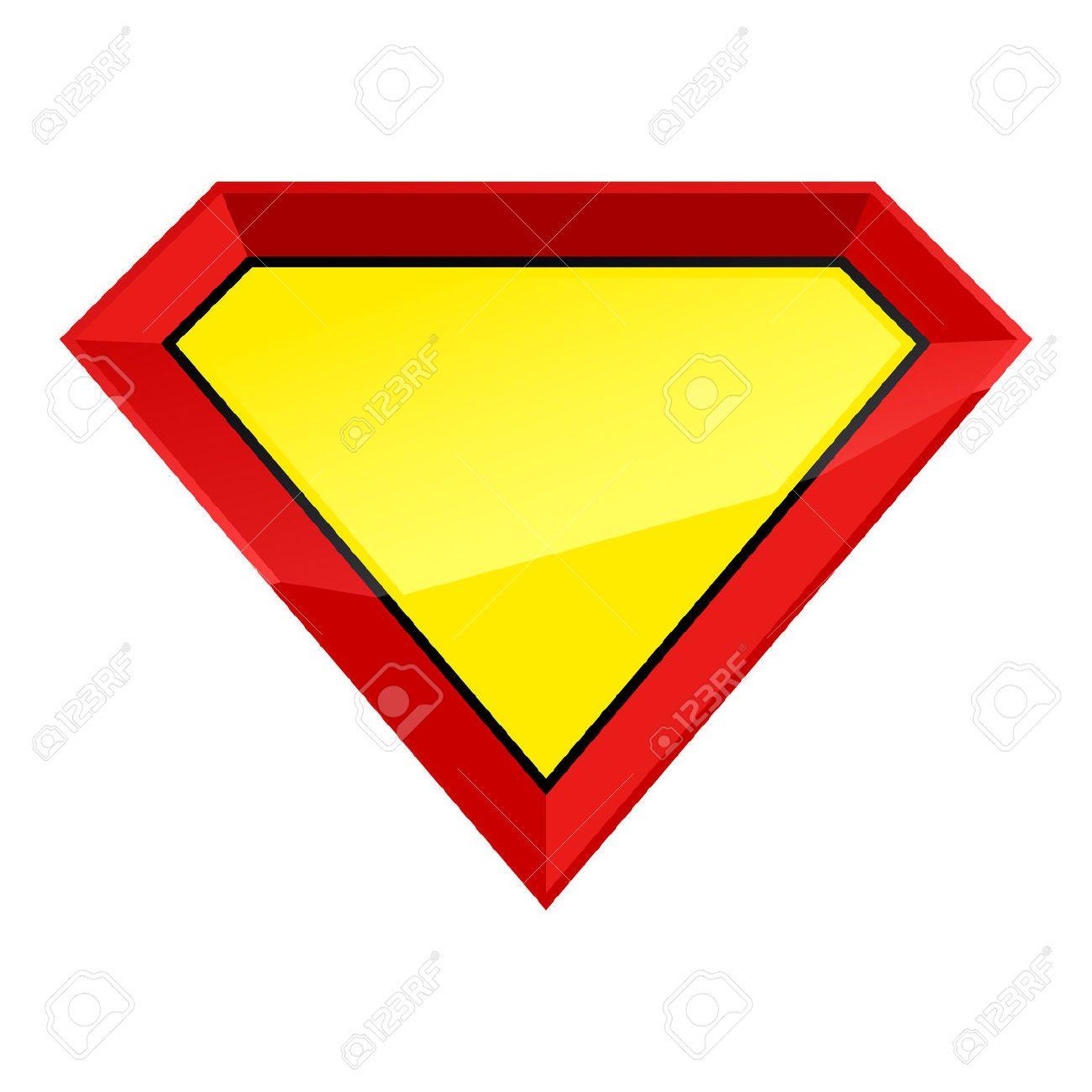 41097125-Supermann-Held-leere-Schild-Abzeichen-Vorlage--Lizenzfreie ...
