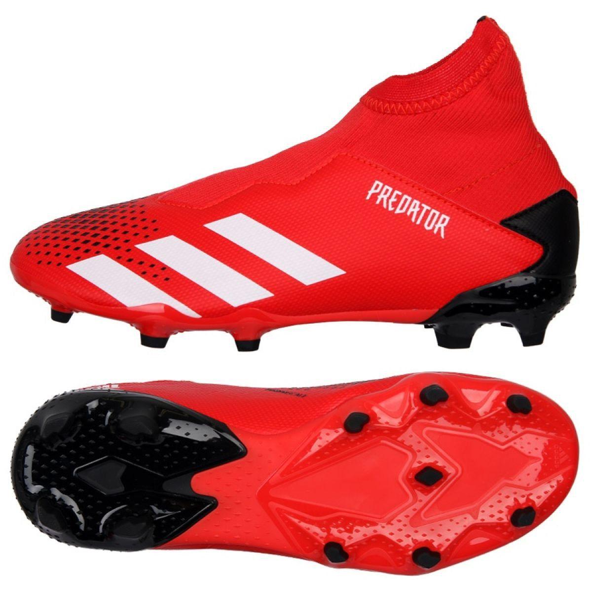 Buty Pilkarskie Adidas Predator 20 3 Ll Fg Jr Ef1907 Czerwone Czerwone Adidas Predator Adidas Sport Shoes