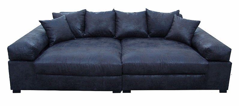 Big Sofa Couch Garnitur Schwarz XXL Megasofa Riesensofa ...