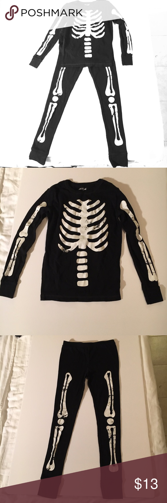 ??Boys skeleton Cat u0026 Jack pajama set top + bottom ??Boys skeleton Cat u0026 & ??Boys skeleton Cat u0026 Jack pajama set top + bottom ??Boys ...