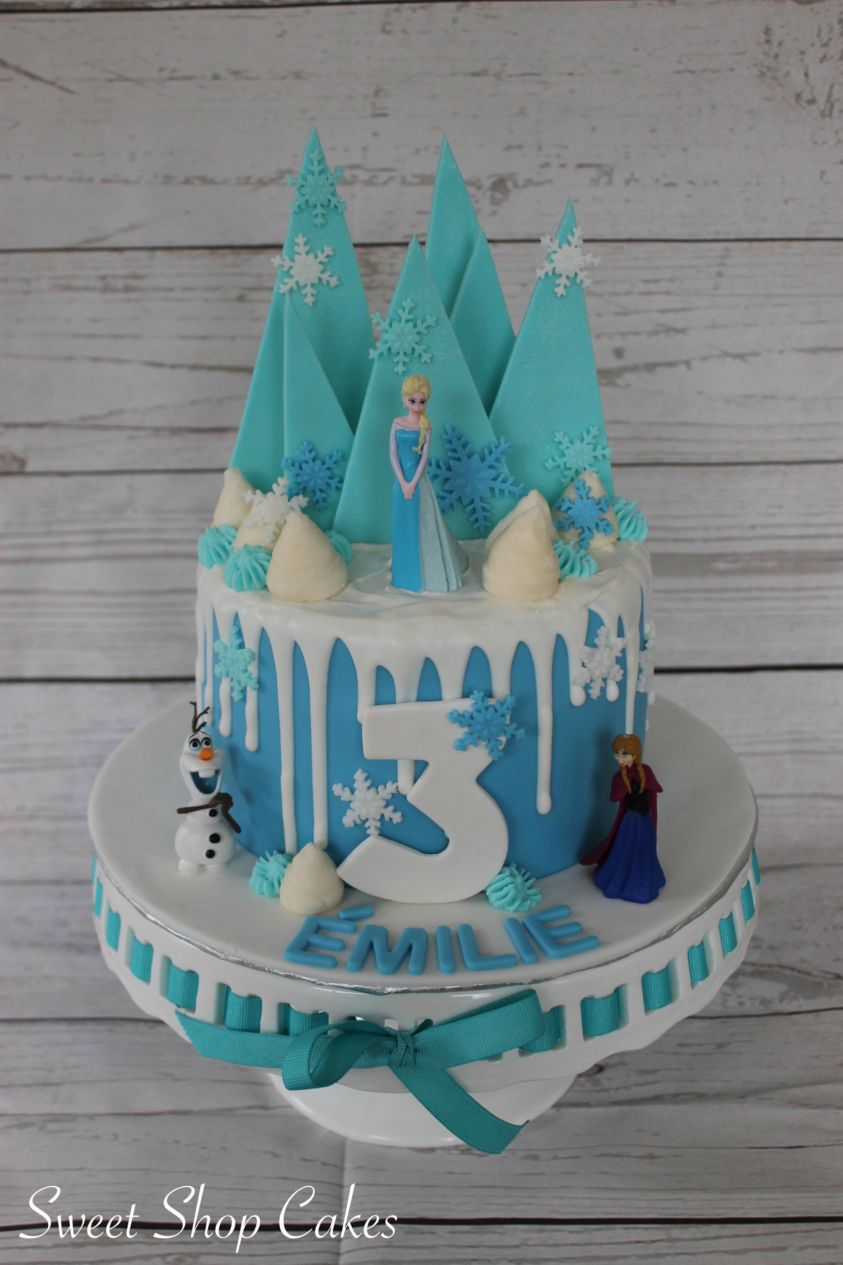 Frozen Drip Cake With Images Birthday Drip Cake