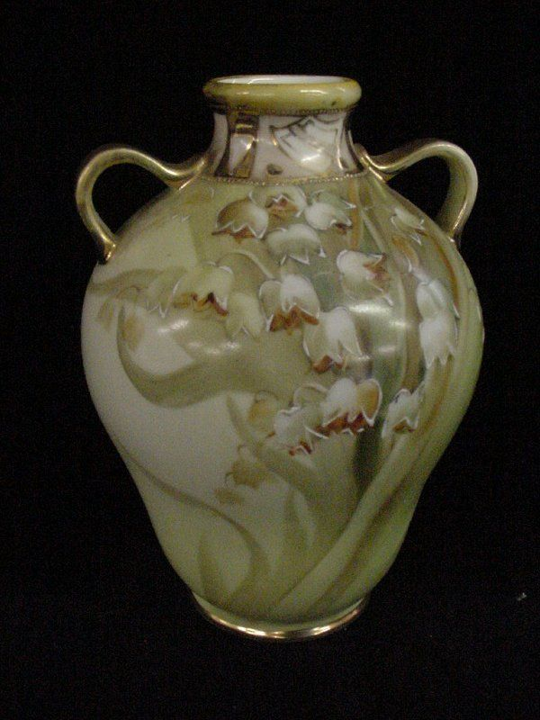 Nippon Porcelain Lily Of The Valley Vase Matte Finish