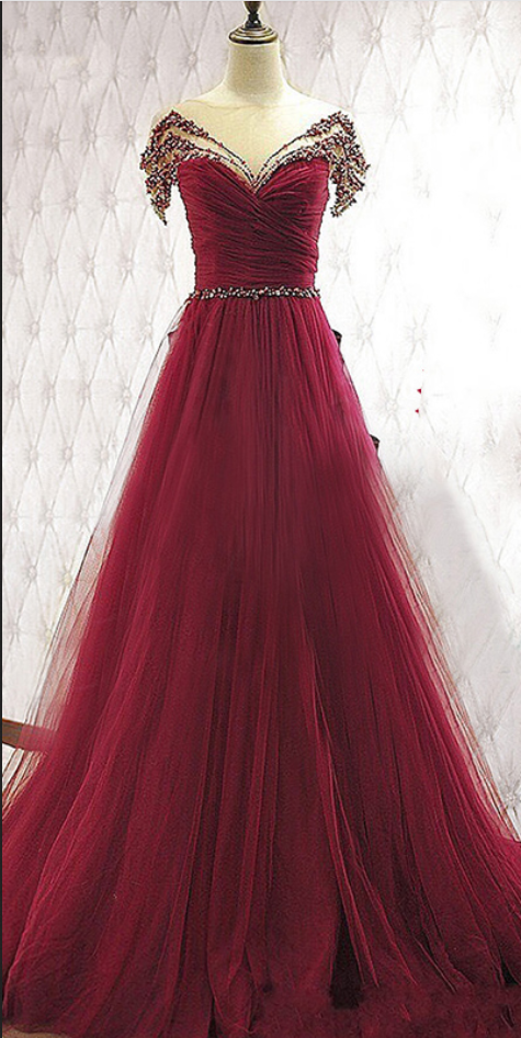 e3e26cbf79e7a5 Charming Burgundy Prom Dresses