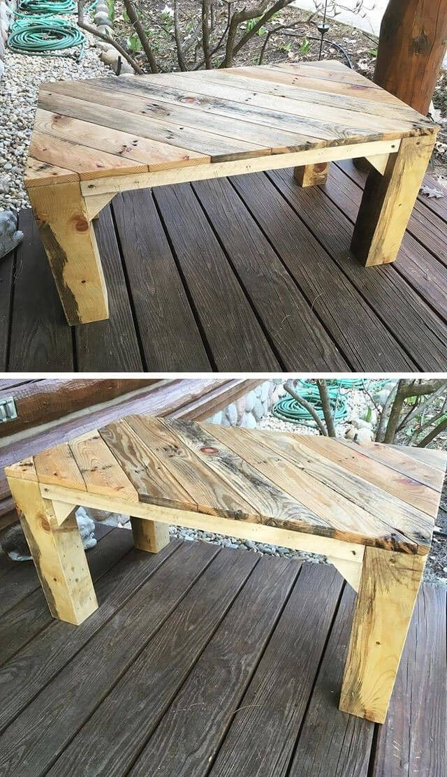 pallet upcycled table project ideas