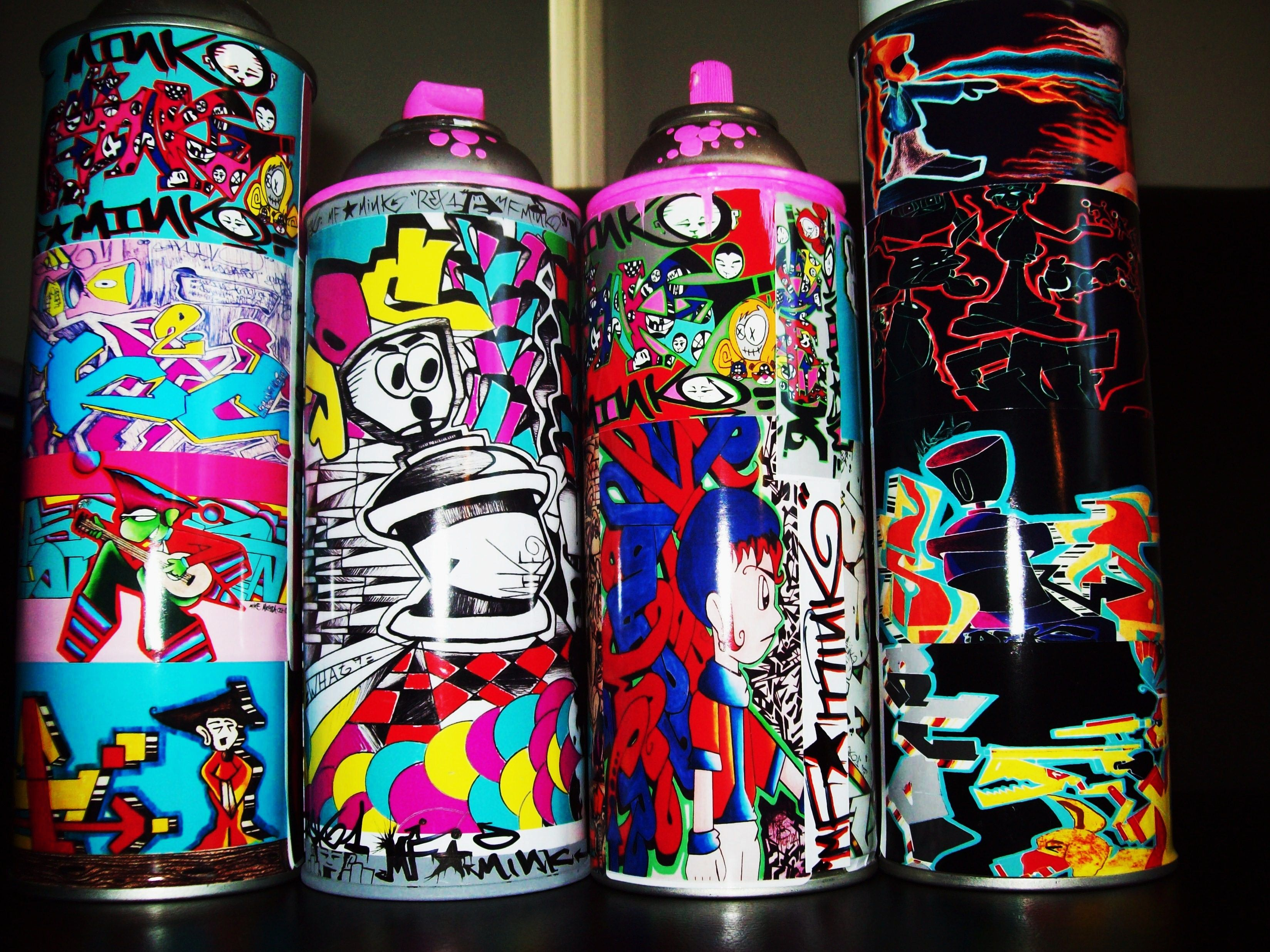 I Made These Out Of Old Empty Spray Paint Cans I Put A Few