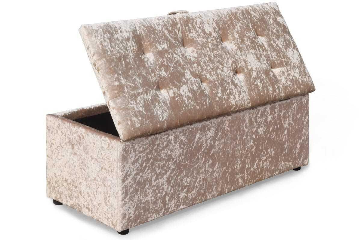 Fantastic Ottoman Storage Gold Crushed Velvet Unit Decor Velvet Pdpeps Interior Chair Design Pdpepsorg