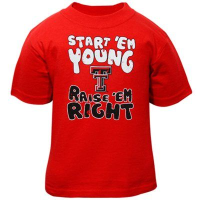 Texas Tech Red Raiders Infant Start 'Em Young T-Shirt - Scarlet