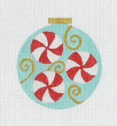 Peppermint+Ornament+Blue -- Eye Candy Needlearts needlepoint design
