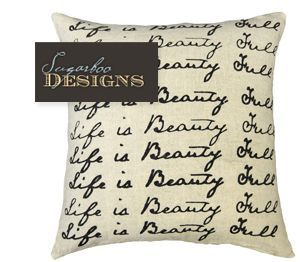 Typography on home decor is beautiful