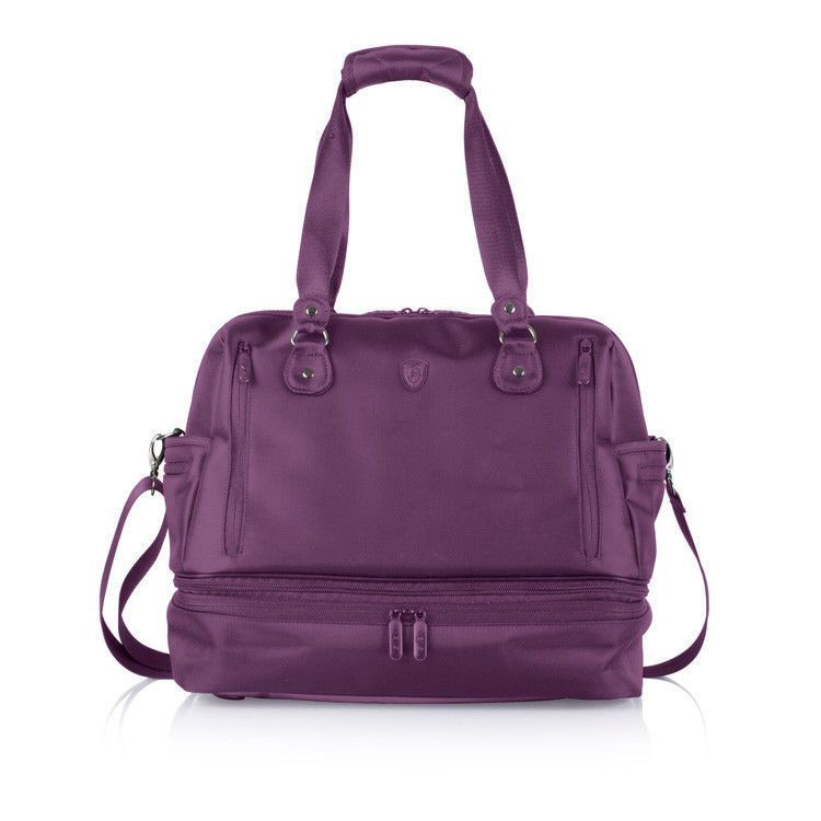 Heys Travel Tote HiLite Family & Fitness Duffle Diaper Baby Bag Purple