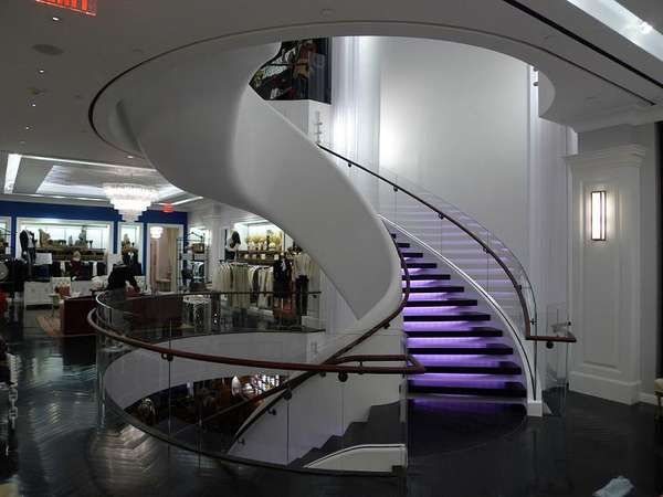 Exceptional Floating Staircases   This Multi Million Dollar Floating Staircase Is  Located At The Tommy Hilfiger Flagship Store In New York.