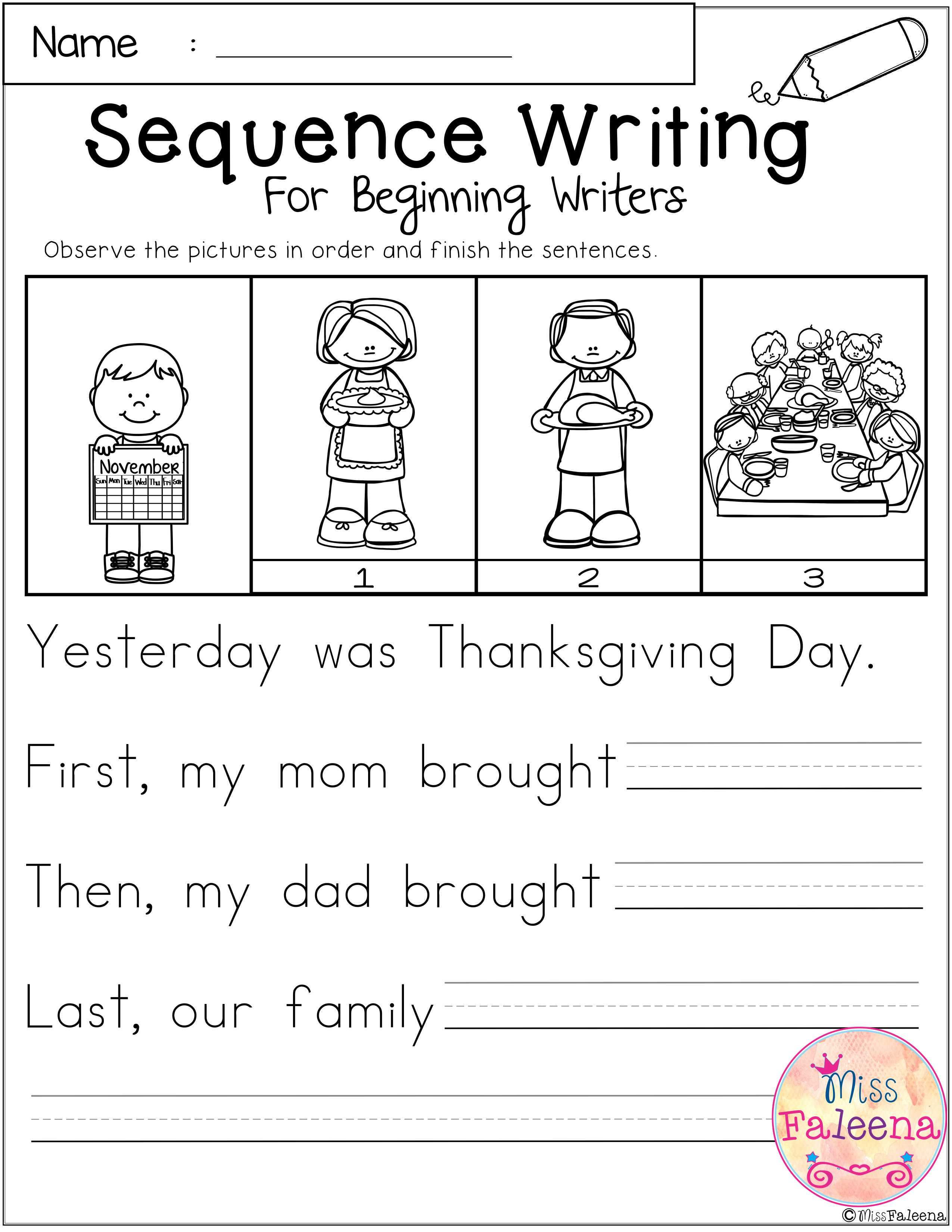 hight resolution of https://www.contohkumpulan.com/november-sequence-writing-for-beginning-writers-miss-faleena-s-store-first-grade-worksheets/