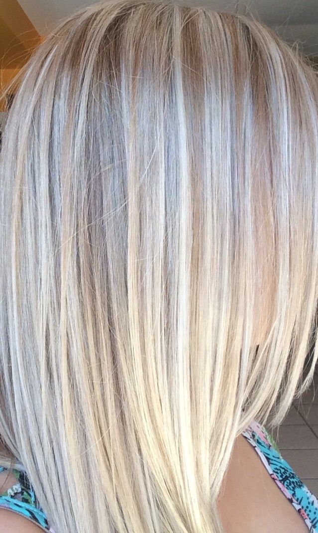 Platinum Blonde Highlights And Lowlights Hair Pinterest