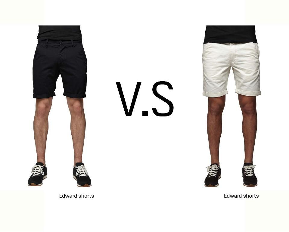 It's either BLACK or WHITE!  #black #white #shorts #colors #summer #outfit #men #boy #trend #style #look #fashion #clothes #war