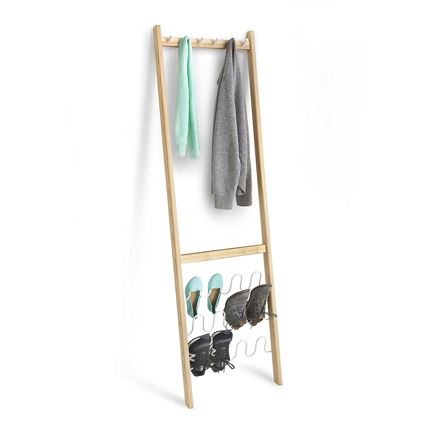 Amazon.com: Umbra Leanera Free-Standing Coat and Shoe Rack: Home & Kitchen