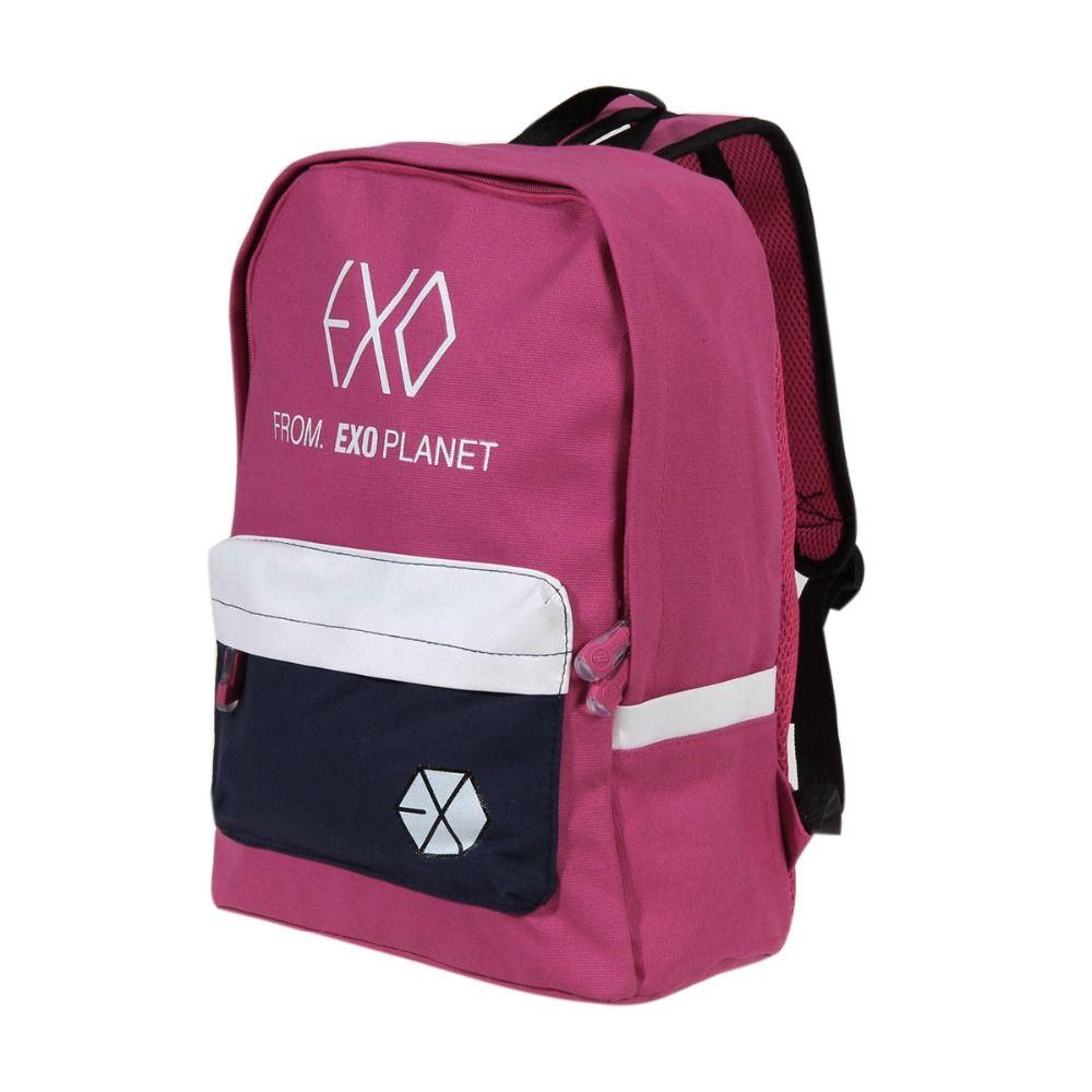 Discount Up to 50% Women Men School Bags Canvas Backpacks for Teenager Girl  boy Casual Travel EXO Bags Mochila School Book Bags Laptop Rucksack c253c31704