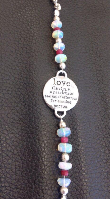 Real ruby and opal bracelet  by azCreationsByAlyssa on Etsy