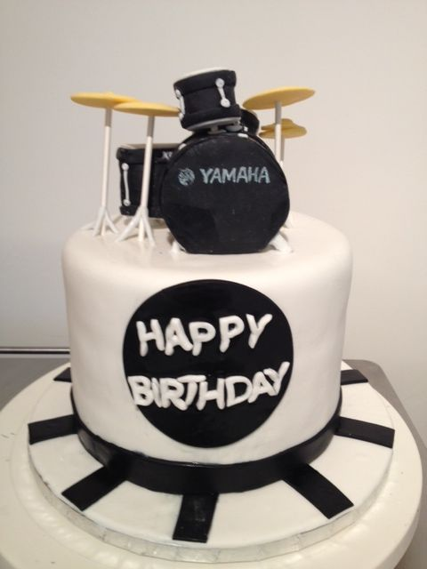 Drum Set Cake Buttercream Creations Drums Birthday Happy
