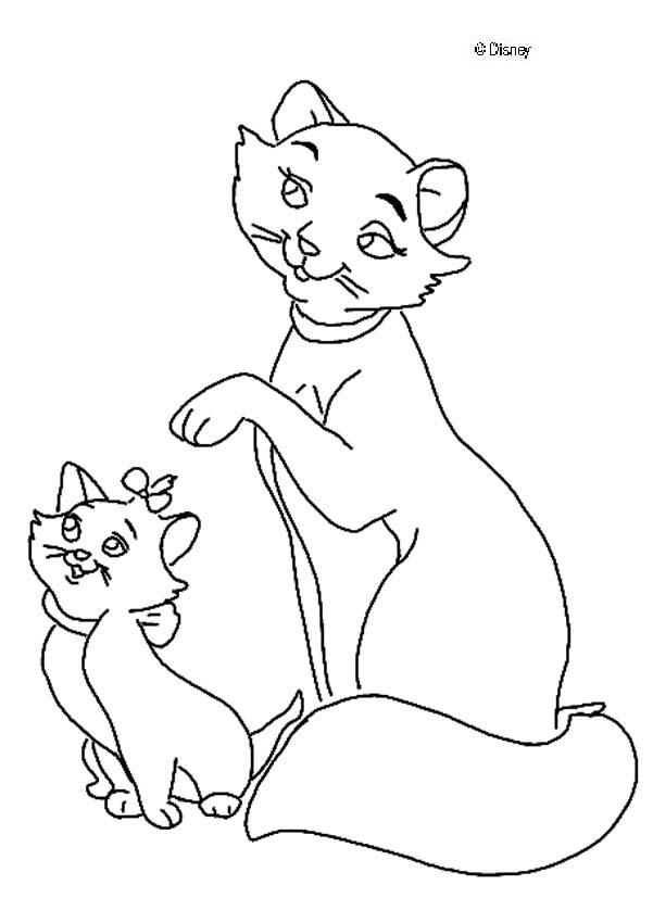 Discover This Amazing Coloring Page Of The Aristocats Movie Here The Mother Cat And Her Kittens Cat Coloring Page Disney Coloring Pages Horse Coloring Pages