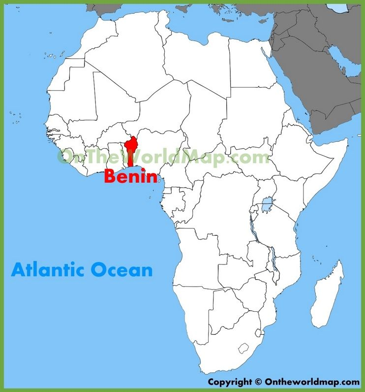 Benin location on the Africa map Benin Africa