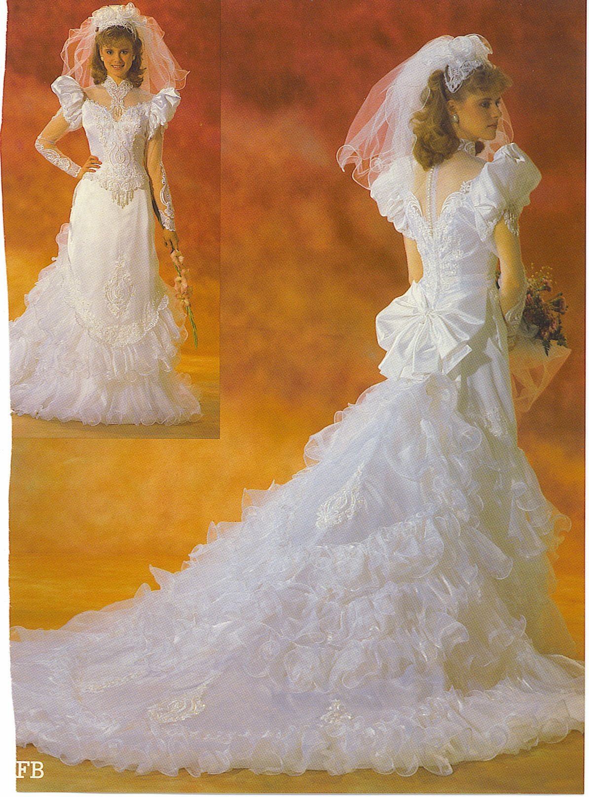 Pin On 80 S And 90 S Bridal Wedding Fashion