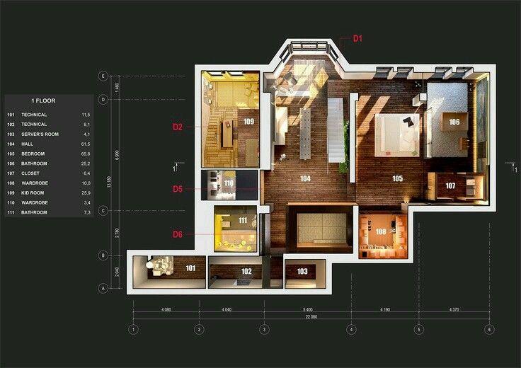 Beautifull Floorplan Presentation Interior Design Presentation Architecture Presentation Porch House Plans