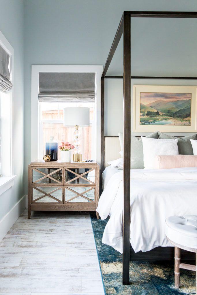 #OneRoomChallenge: Master Bedroom Reveal! Benjamin Moore's Nelson Blue
