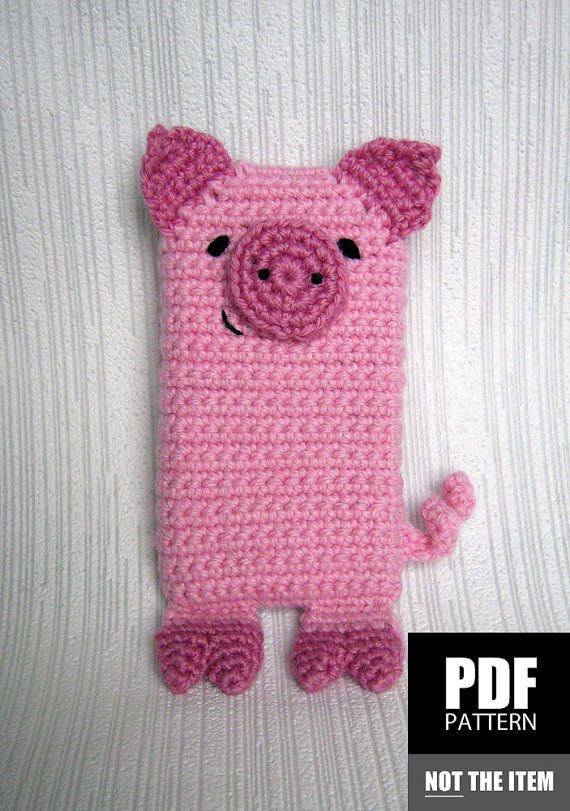 Pig Crochet Pattern | Crochet Cell Phone Case Pattern | Mobile Cover ...