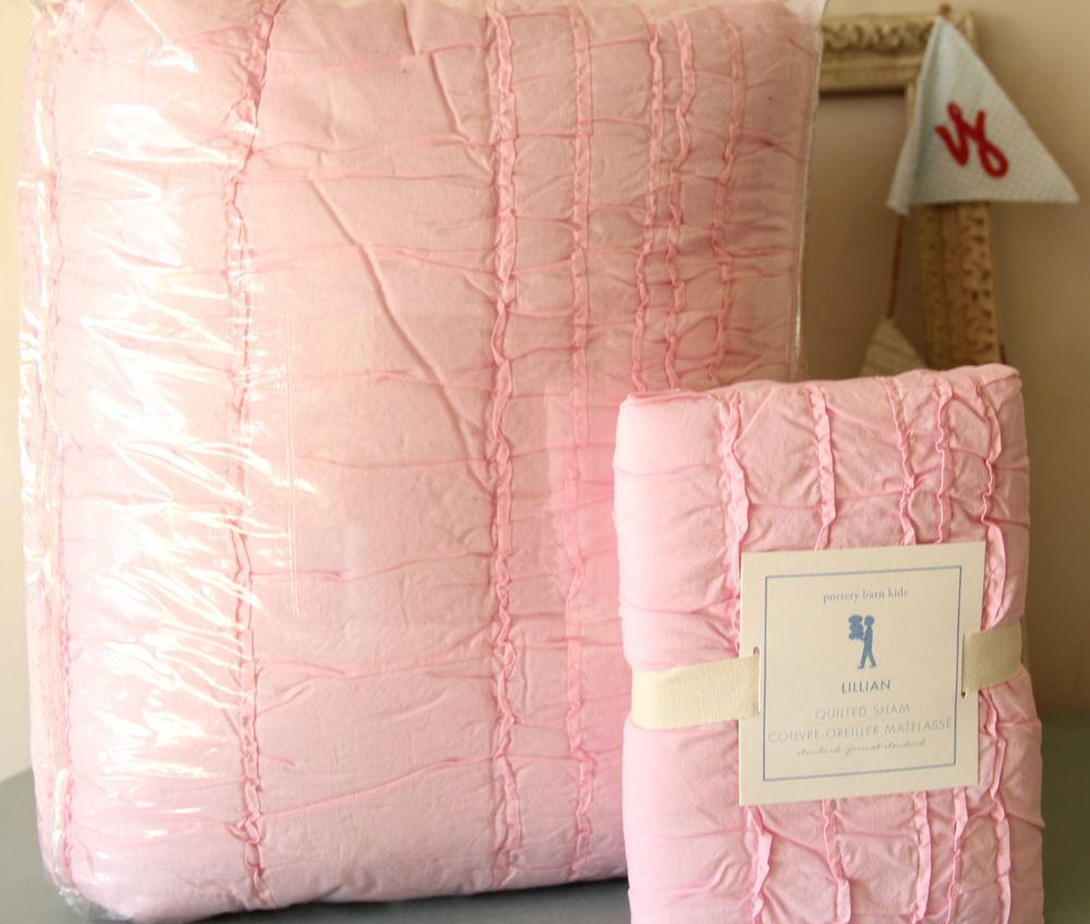 Twin Pottery Barn Kids Quilted Bedding Comforter Duvet Sham Pink Ruffled Quilt Pottery Barn Kids Girl Room Big Girl Rooms