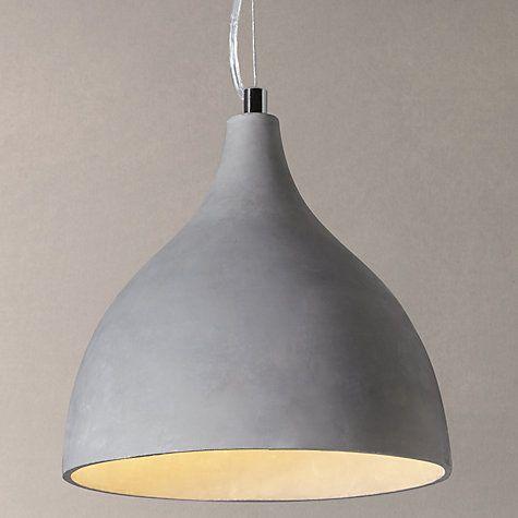 Buy John Lewis Parry Concrete Pendant Light Online at johnlewis - küchenmöbel aus holz