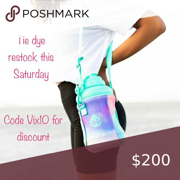 Vix10 for 10% off hydrojug Hydrojug is restocking the tie dye sleeve this Saturday at 10am MT (that's 9am Pacific and 12pm Eastern) use code Vix10 for 10% off ur entire order at thehydrojug bkr Accessories