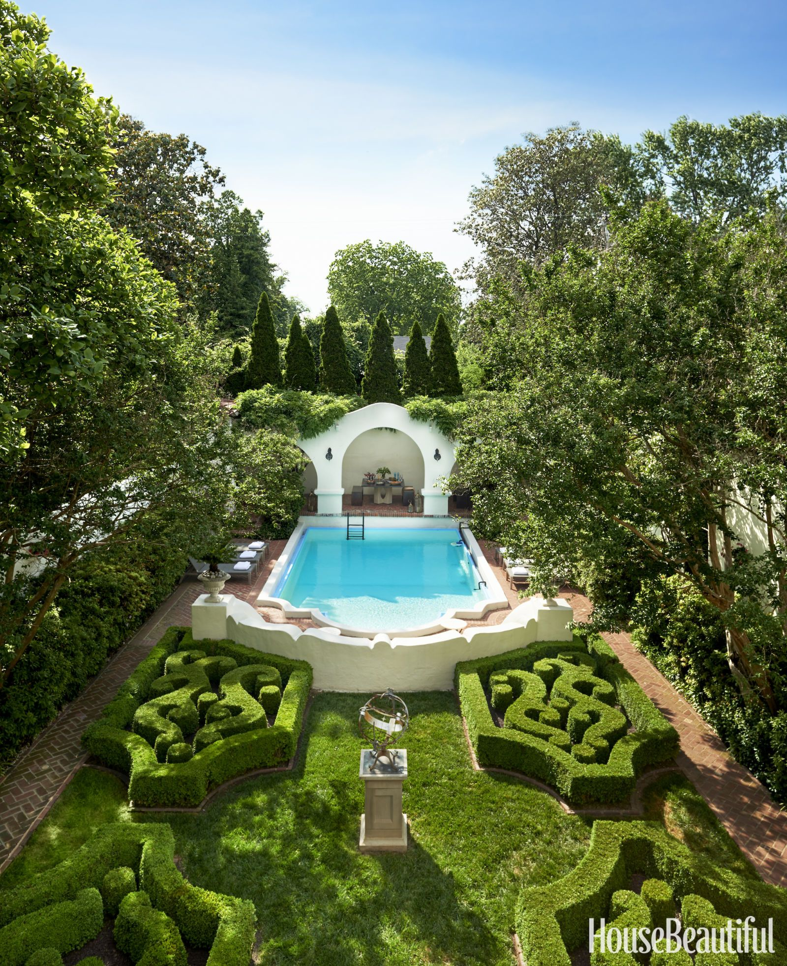 This Stunning Home Is The Argument For Decorating With Cream Backyard Pool Swimming Pool Landscaping Pool Landscaping
