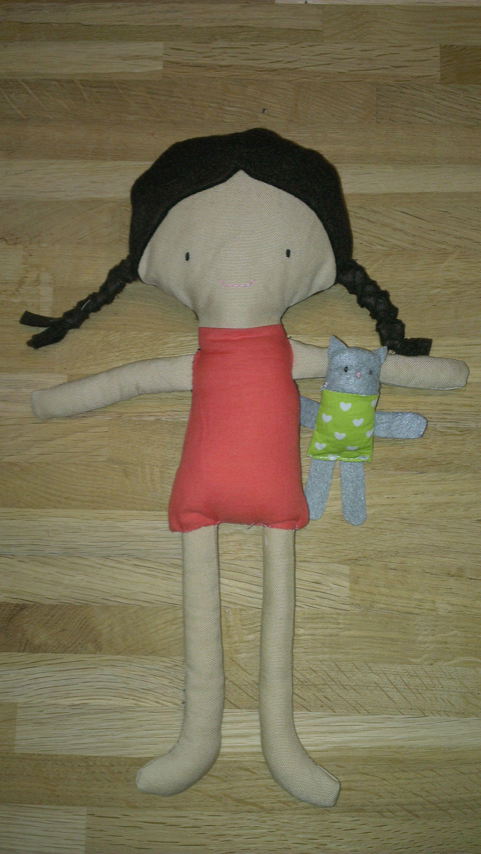 Geïnspireerd door http://www.elfpop.com/ - Elf Pop Amber doll sewing pattern