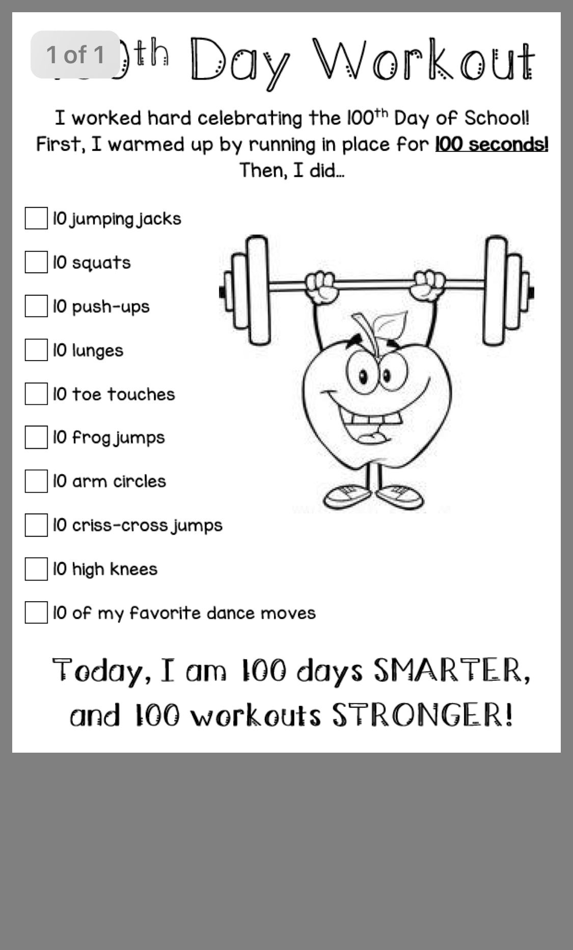 Pin By April On 100 Day Of School