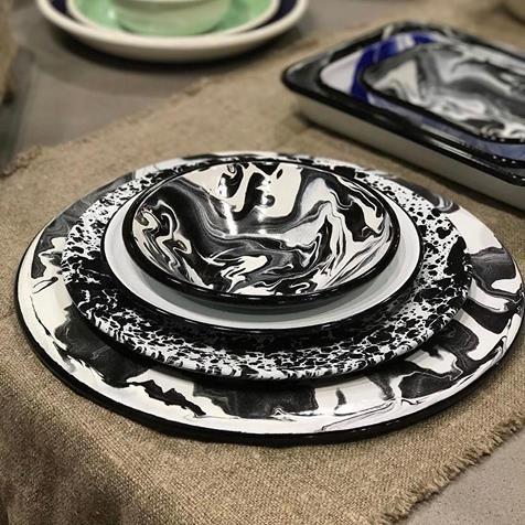 BORNN and @crowcanyonhome to create an #enamelware masterpiece @americasmartatl #repost @bornnenamelware_us & BORNN and @crowcanyonhome to create an #enamelware masterpiece ...