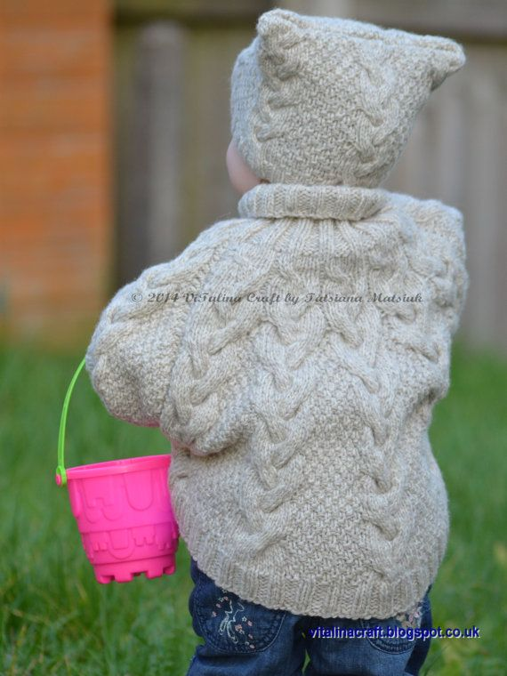 Knitting Pattern - Vanilla Cloud Poncho and Hat Set (Toddler and ...