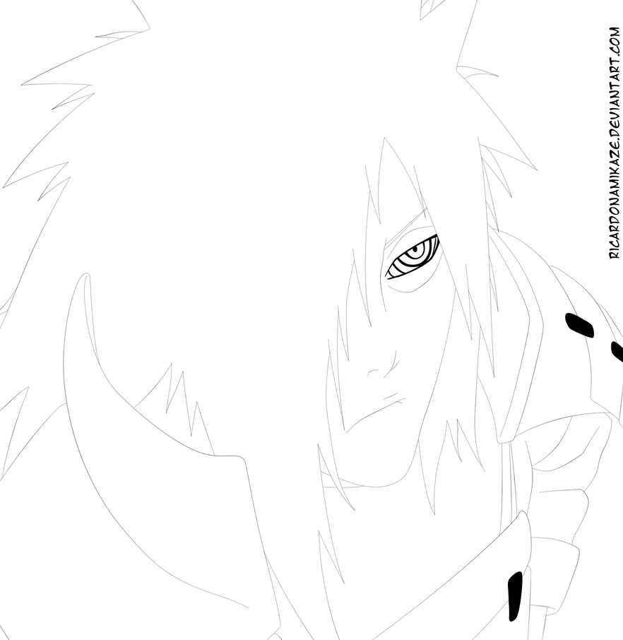 Madara Bleach Style Lineart By Llswaggerll Naruto Drawings Naruto Art Madara Uchiha [ 906 x 882 Pixel ]