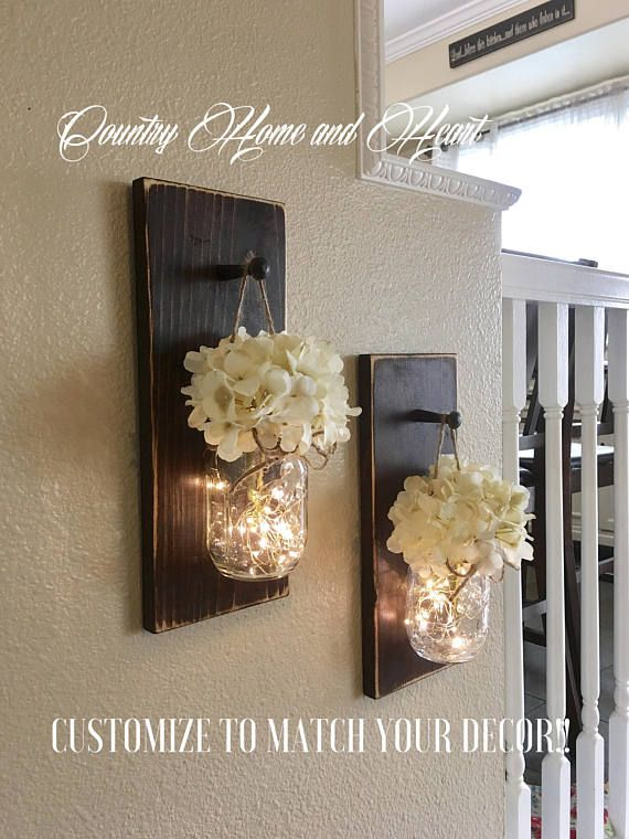 Mason Jar Decor Farmhouse Wall