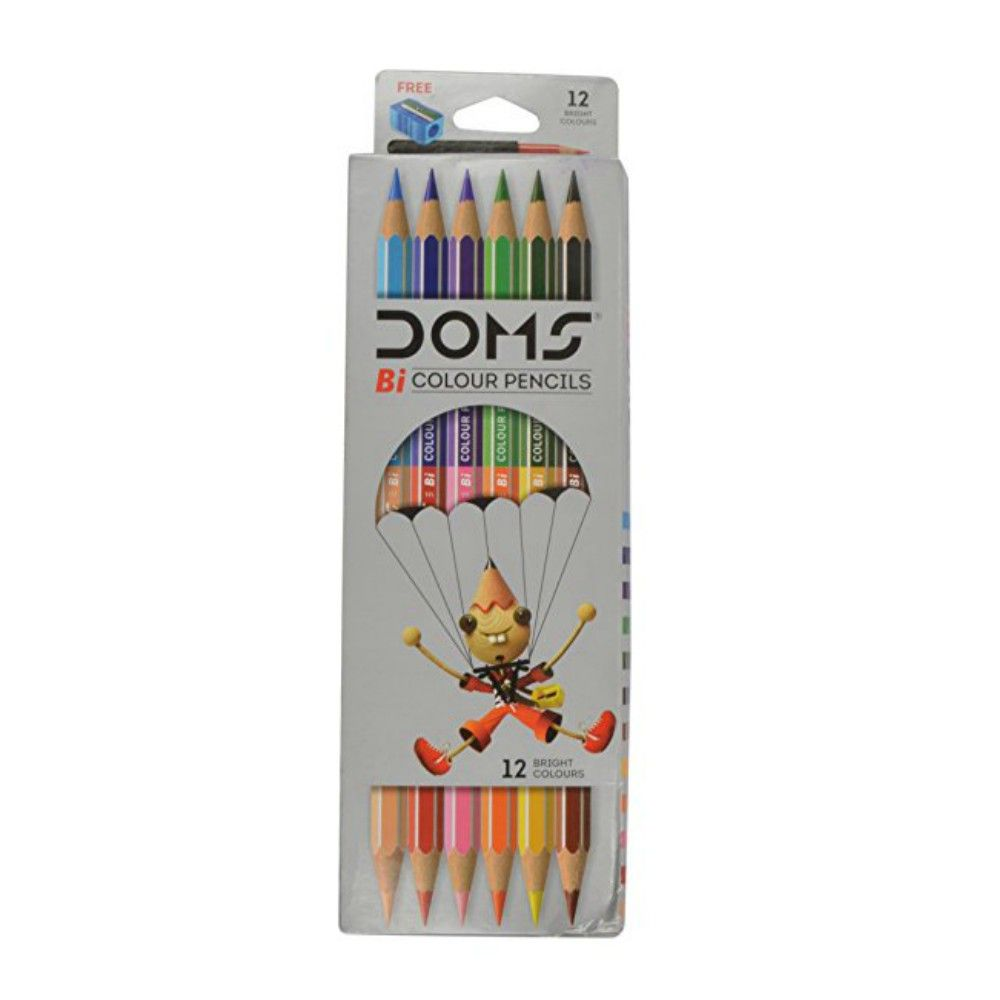 Doms Bi Colour Pencils Double Ended Inner Pack 10 Stationary