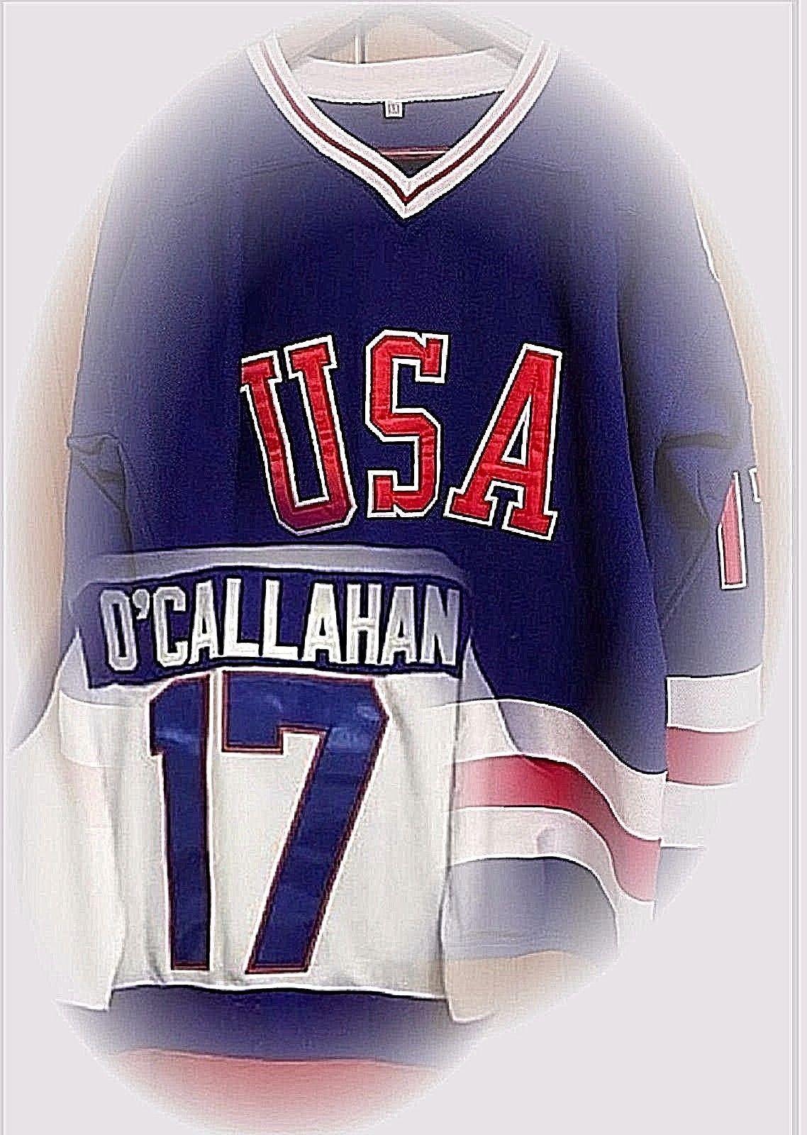 Jack O Callahan 17 Team Usa Olympic Hockey Jerseys