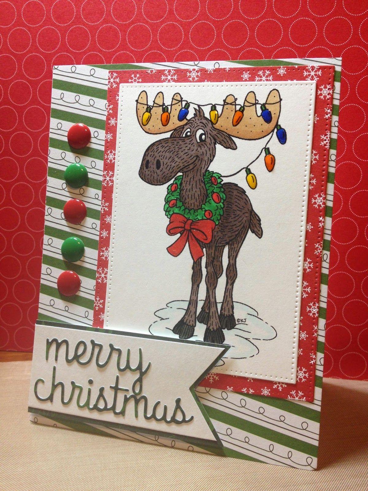 Christmas Moose karensdoodles.com | Cards Made by Me | Pinterest ...