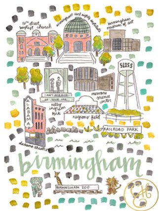 Map Of England Birmingham.Birmingham Map Print By Evelynhenson On Etsy City Map Birmingham