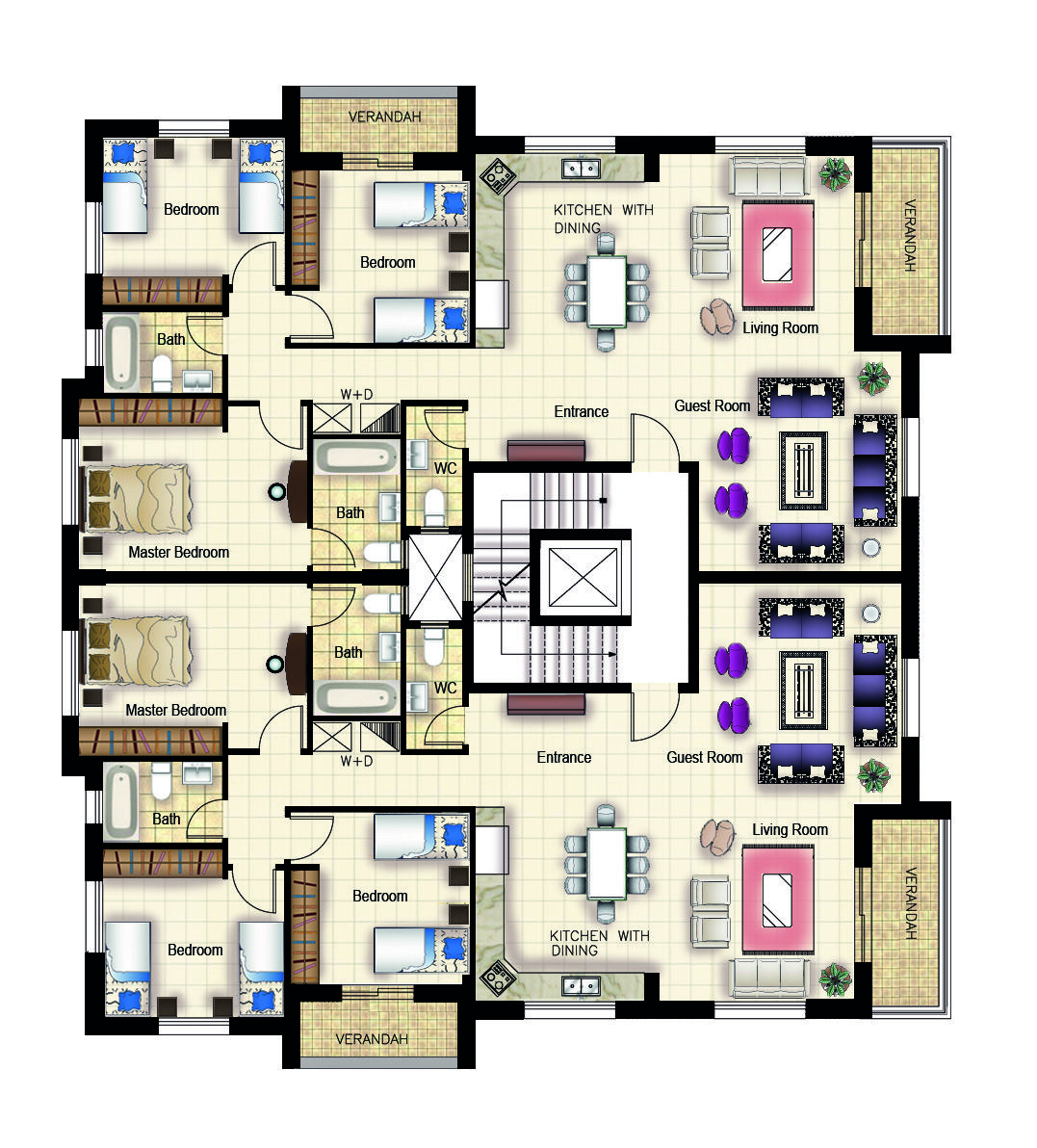 Residential Building Ramallah Typical Plan My Work In Assia Engineering Office Residential Building Plan Architectural Floor Plans Office Building Plans
