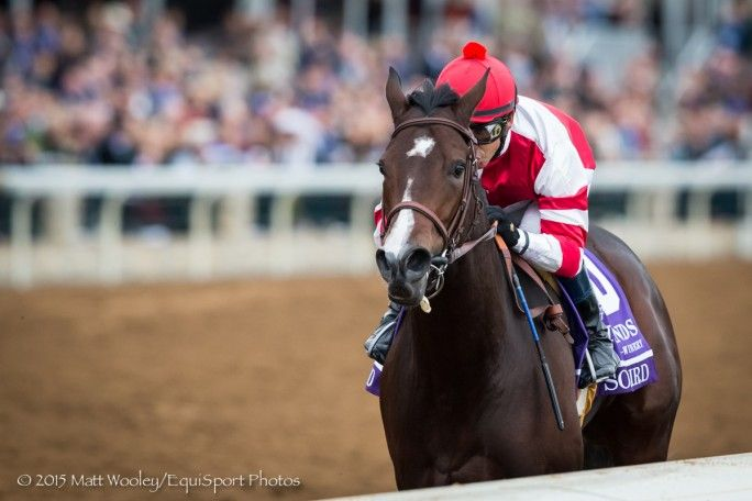 Songbird, Mike Smith up, wins the BC Juvenile Fillies