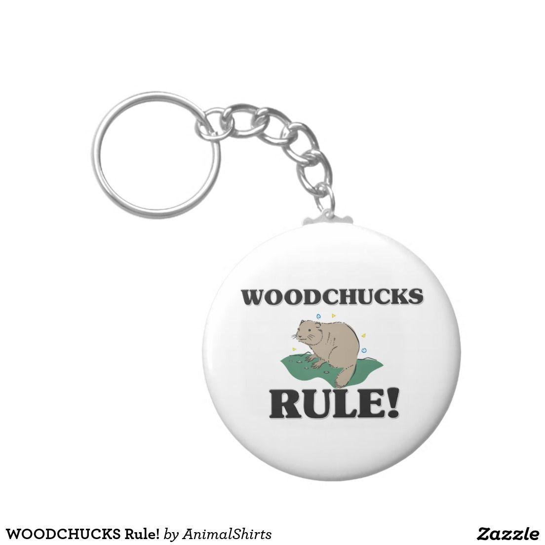 WOODCHUCKS Rule! Basic Round Button Keychain