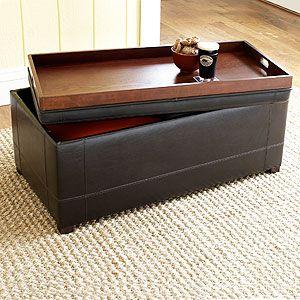Excellent Brown Owen Bi Cast Leather Ottoman World Market Would Be Cjindustries Chair Design For Home Cjindustriesco