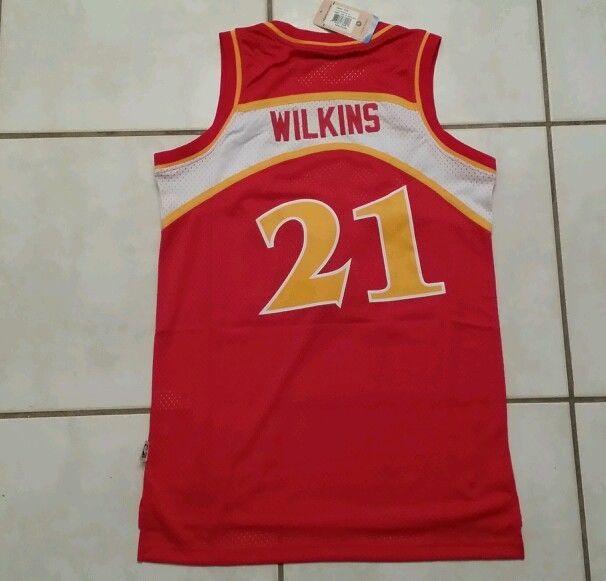 Nwt Adidas Swingman Atlanta Hawks Dominique Wilkins Nba Jersey Men