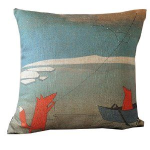 vintage looking pillow