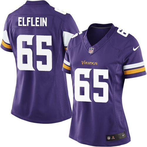 $24.99 Women's Nike Minnesota Vikings #65 Pat Elflein Limited Purple Team Color NFL Jersey