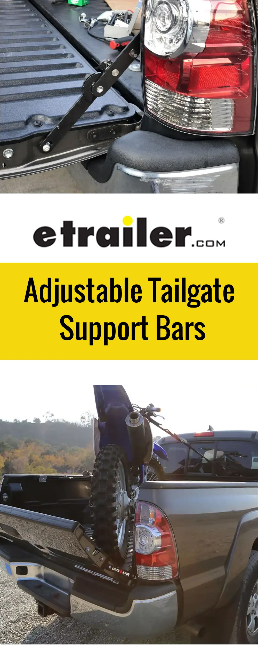 2014 Ford F150 Adjustable Tailgate Support Bars in 2020